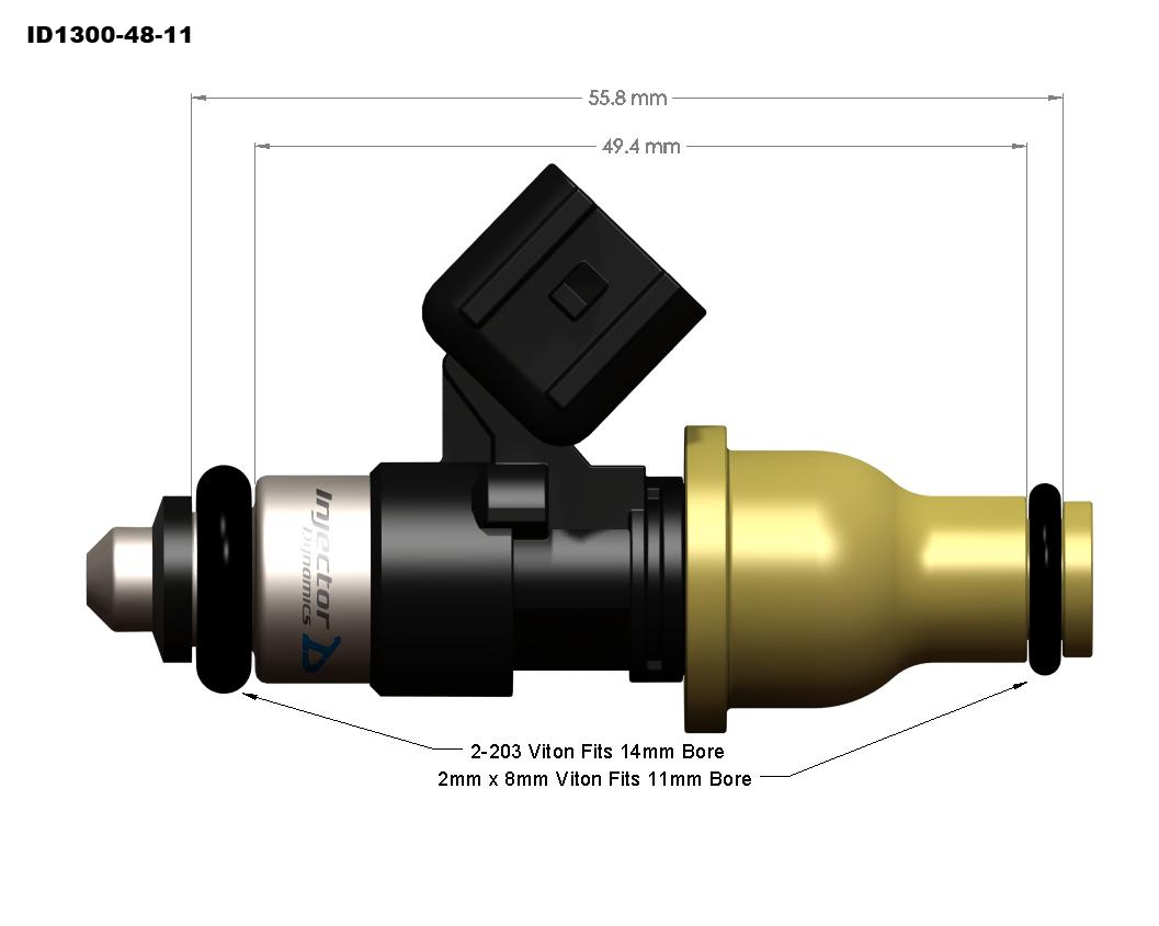 Id1300x Injectors Injector Dynamics 24v Vr6 Engine Diagram Id1300 48 11